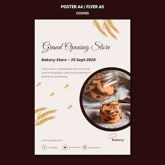 Cookies speichern plakatvorlage