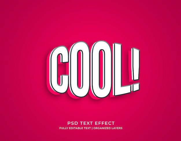 Coole bearbeitbare texteffekt-modellvorlage im 3d-stil