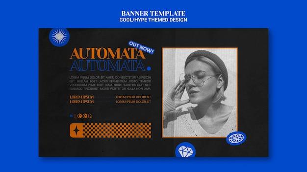 Coole thematische design-banner-vorlage