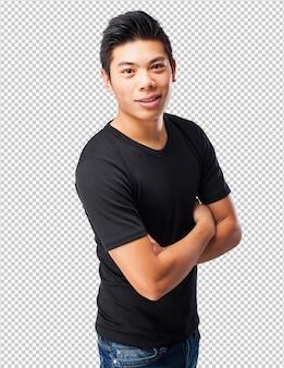 Cooler chinese-mann stehend