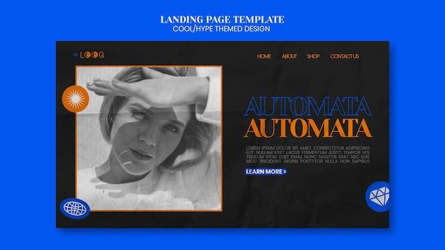 Cooler themenorientierter design-landingpage-stil
