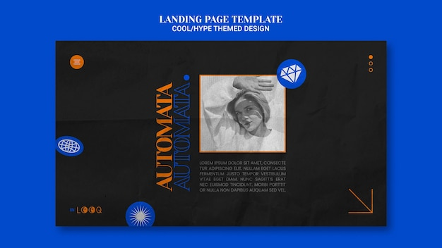 Cooles design landing page design