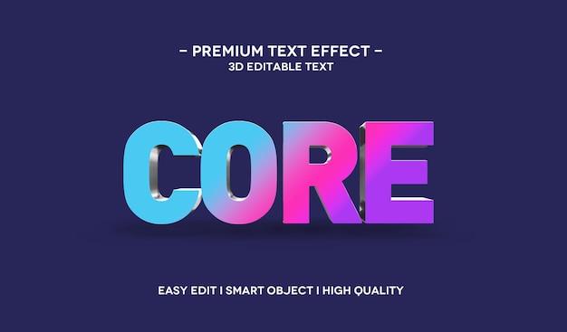 Core 3d-textstil-effektvorlage