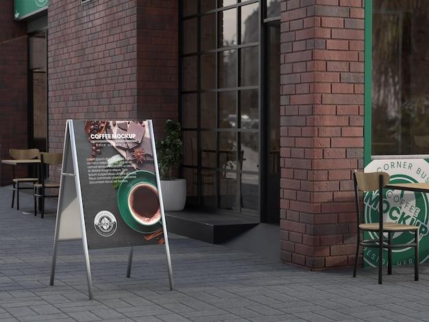 Corner-business-mock-up für coffeeshops