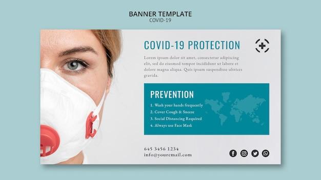 Coronavirus im banner-vorlagenstil