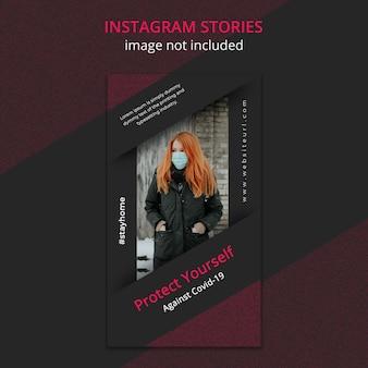 Coronavirus instagram story-vorlage
