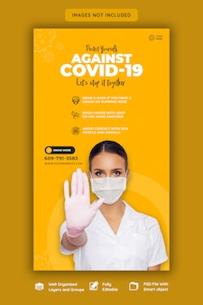 Coronavirus- oder convid-19-instagram-story-vorlage