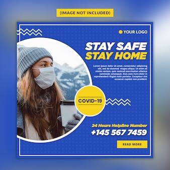 Coronavirus oder covid-19 social media post-vorlage