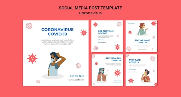 Coronavirus social media beiträge