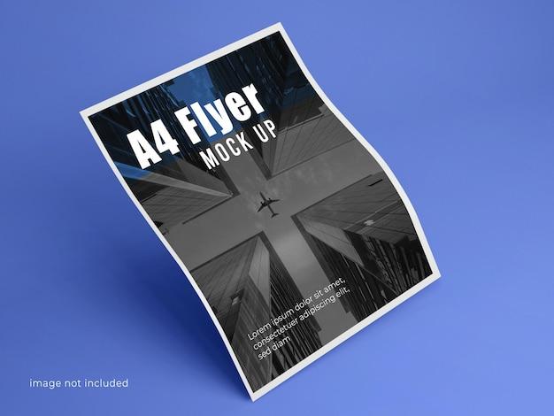 Corporate a4 flyer mockup sauberer hintergrund