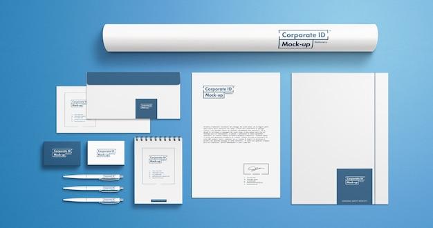 Corporate branding identity briefpapier set mock-up