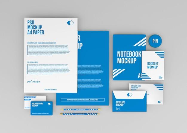 Corporate briefpapier set branding-modell