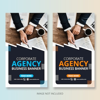 Corporate business agency banner set