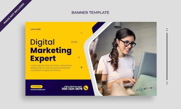 Corporate business agency web-banner oder social media banner-vorlage