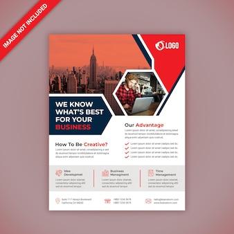Corporate business flyer design Premium PSD