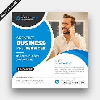 Corporate business instagram post social media web banner und quadratische flyer design-vorlage
