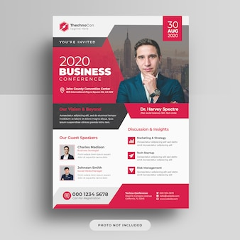 Corporate business konferenz a4 cover flyer vorlage design