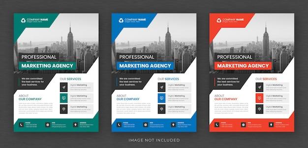 Corporate business mehrzweck flyer design und broschüre deckblatt vorlage
