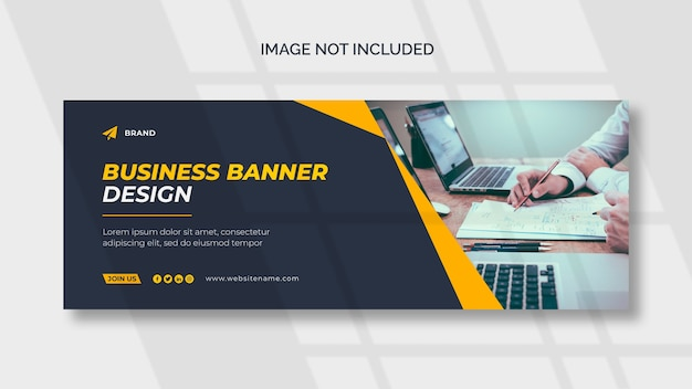 Corporate cover oder web-banner-vorlage