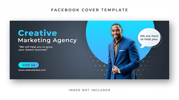 Corporate facebook cover banner vorlage