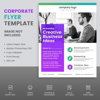 Corporate flyer design-vorlage