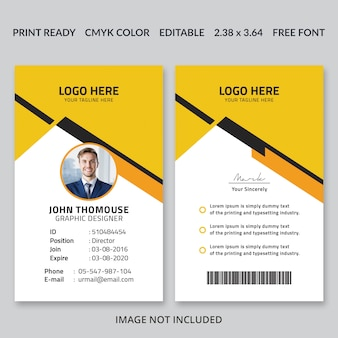 Corporate id card design