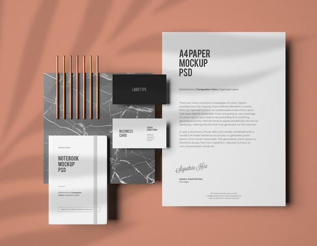 Corporate identity branding-modell