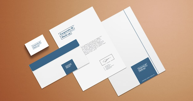 Corporate identity briefpapier set mock-up