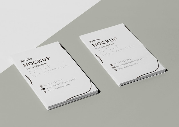 Corporate identity mit blindenschrift