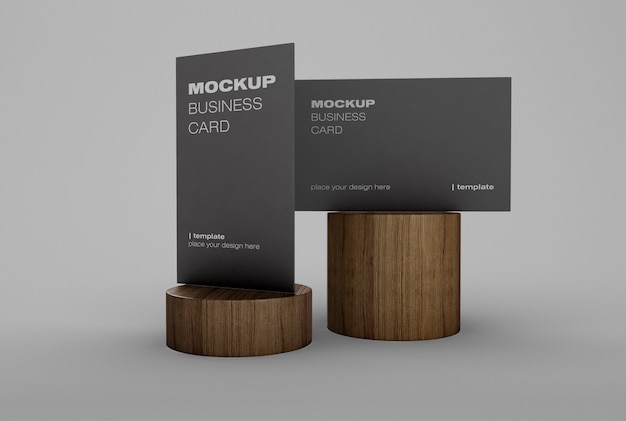 Corporate identity mockup mit visitenkarte