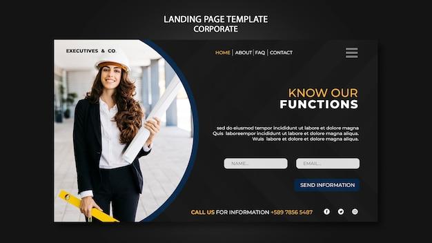 Corporate landing page vorlage