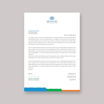 Corporate letterhaed vorlage