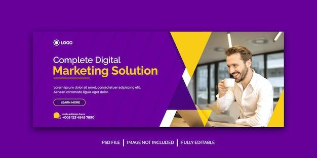 Corporate marketing promotion facebook und social media cover vorlage