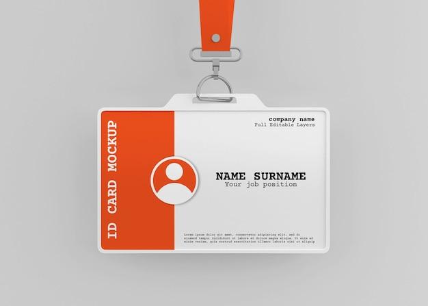 Corporate office id-karteninhaber modell mit lanyard
