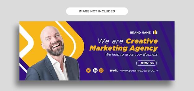 Corporate social media design-vorlage