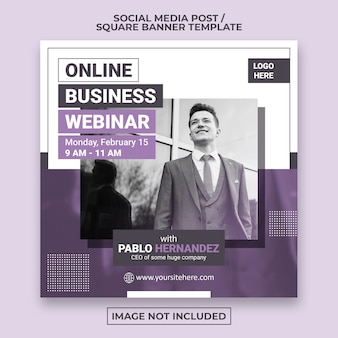 Corporate social media post oder square web banner vorlage