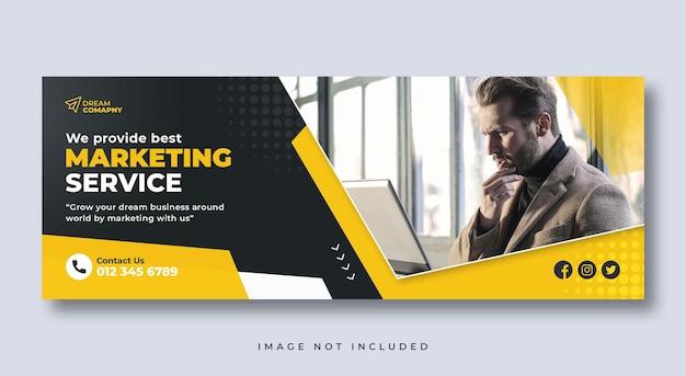 Corporate social media web-banner oder facebook-cover-vorlage