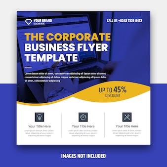 Corporate square flyer vorlage