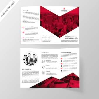 Corporate tri-fold-broschüre
