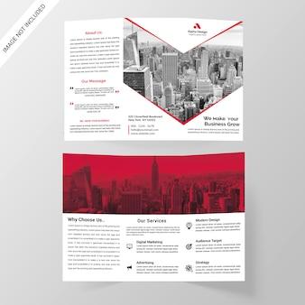 Corporate tri-fold-broschüre