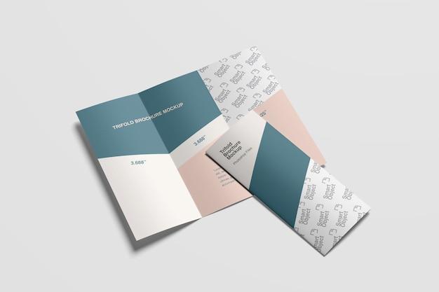 Corporate trifold broschüre mockup
