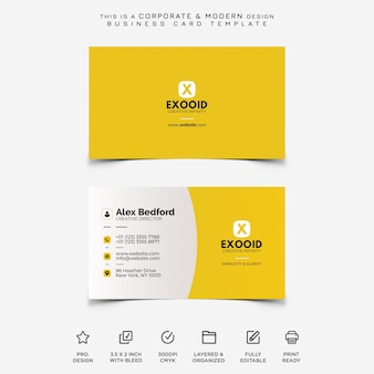 Corporate und moderne visitenkarte