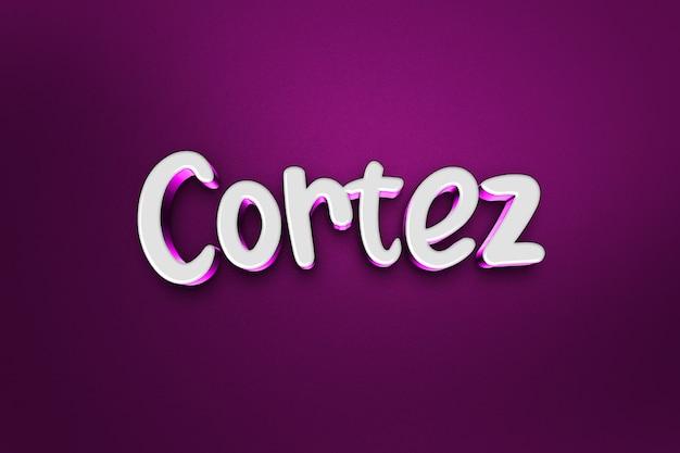 Cortez 3d-textstileffekt