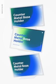 Counter top metall basishalter modell, fallend