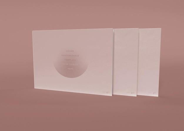 Cover-mockup für drei bücher
