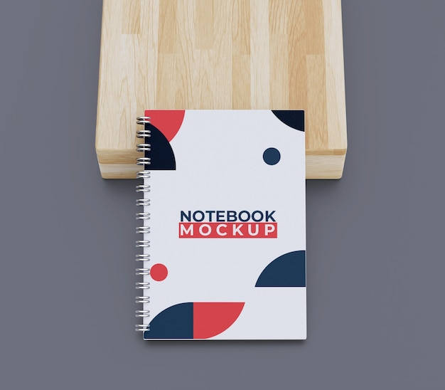 Cover notebook mockup draufsicht
