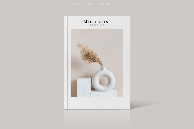 Cover of magazine mockup isoliert