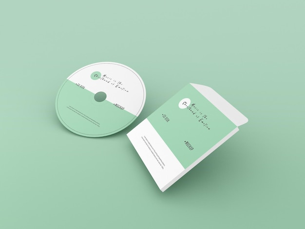 Cover und cd-modell