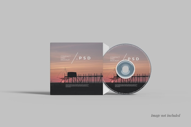 Cover und compact disc mockup