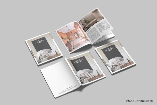 Cover und öffnete uns briefmagazin mockup